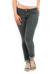 Kook N Keech Disney Women Grey Printed Molly Skinny Fit Jeans