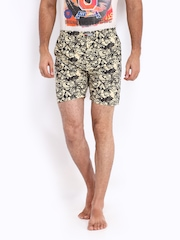 Kook N Keech Marvel Men Beige & Black Printed Boxers 08A