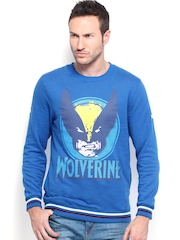 Kook N Keech Marvel Men Blue Printed Sweatshirt