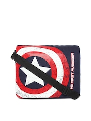 Kook N Keech Marvel Unisex Navy Printed Messenger Bag