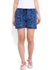 Kook N Keech Marvel Women Blue & Black Printed Shorts