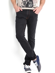 Kook N Keech Men Black Jeans