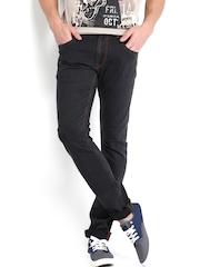 Kook N Keech Men Black Jeans