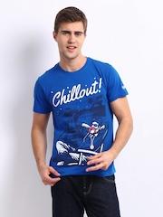 Kook N Keech Men Blue Chill Out T-shirt