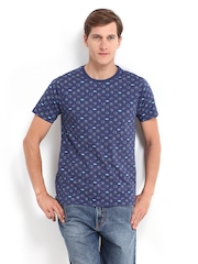 Kook N Keech Men Blue Printed T-shirt