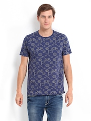 Kook N Keech Men Blue Printed T-shirt