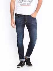 Kook N Keech Men Dark Blue Carrot Fit Jeans