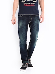 Kook N Keech Men Dark Blue Tapered Fit Jeans