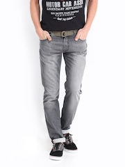 Kook N Keech Men Grey Tapered Fit Jeans