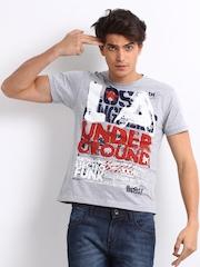 Kook N Keech Men Grey Printed LA T-Shirt
