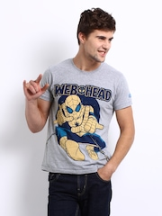 Kook N Keech Marvel Men Grey Spider-Man Printed T-Shirt