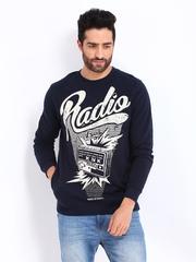 Kook N Keech Men Navy Sweatshirt