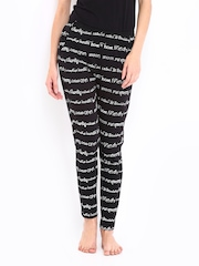 Kook N Keech Women Black Printed Lounge Pants KK39