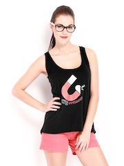 Kook N Keech Women Black Printed Tank Top