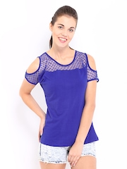 Kook N Keech Women Blue Lace Top