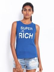 Kook N Keech Women Blue Printed Top