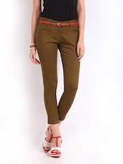 Kook N Keech Disney Women Brown Cropped Trousers