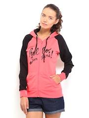 Kook N Keech Women Pink & Black Sweatshirt