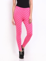 Kook N Keech Women Pink Printed Leggings