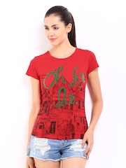 Kook N Keech Women Red Printed Top