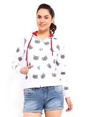 Kook N Keech Women White Printed Sweatshirt