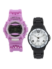Kool Kidz White Dial Watch With Free Gift