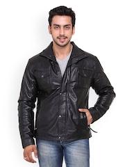 Kosher Men Black Leather Jacket