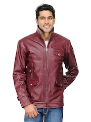 Kosher Men Maroon Jacket