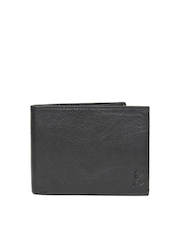 Kosher Men Black Leather Wallet