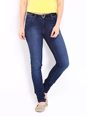 Kraus Jeans Women Dark Blue Athena Slim Fit Jeans