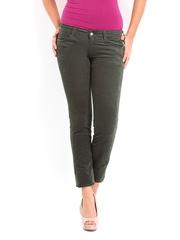 Kraus Jeans Women Grey Slim Fit Corduroy Trousers