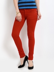 Kraus Jeans Women Red Jeggings