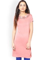 L ELEGANTAE Women Pink Tunic