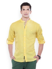 L.A. SEVEN Men Yellow Shirt