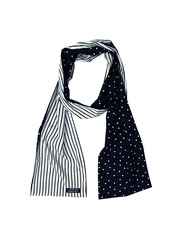 LACQUER EMBASSY BY NIKHIL SHARMA Men Navy & White Scarf