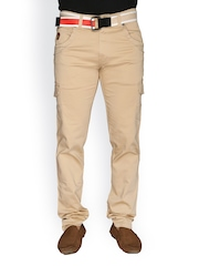 LD Active Men Beige Cargo Trousers