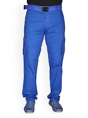 Men Blue Cargo Trousers LD Active