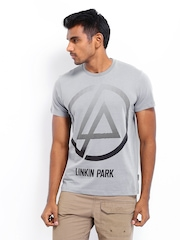 Linkin Park Men Grey Printed T-shirt
