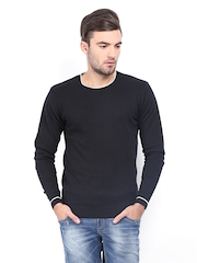 LOCOMOTIVE Men Black Sweater