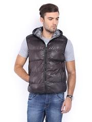 LOCOMOTIVE Men Brown Padded Hooded Jacket