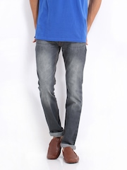Locomotive Men Grey Super Slim Fit Jeans