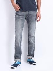 Locomotive Men Grey Super Slim Fit Jeans
