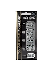 Loreal Clear Black & Silver Disco Diamond Nail Art Stickers