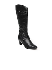 La Briza Women Black Kim Leather Boots