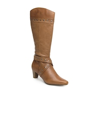 La Briza Women Brown Kim Leather Boots