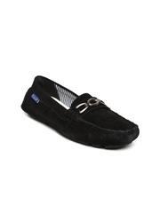 La Briza Women Black Suede Loafers