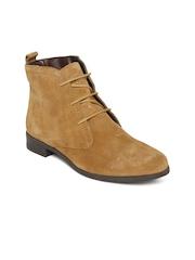La Briza Women Tan Brown Suede Boots