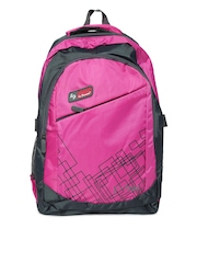 La Plazeite Unisex Pink & Grey Backpack