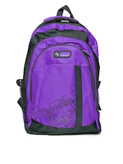 La Plazeite Unisex Purple & Grey Backpack