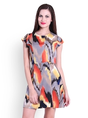 La Zoire Multicoloured Printed Fit & Flare Dress